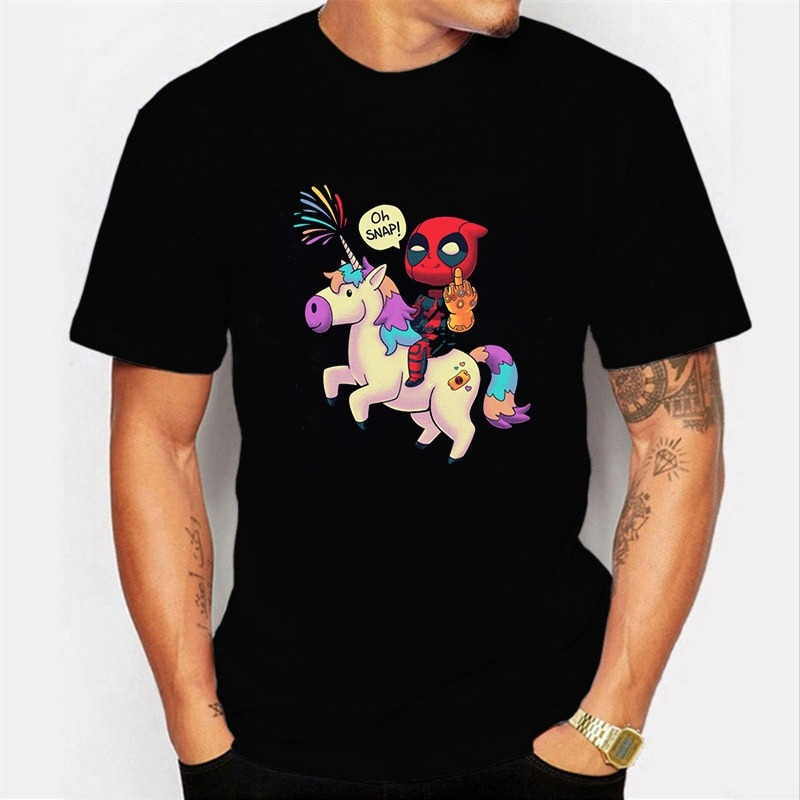 Deadpool Unicornio Streetwear T-Shirt 2020 2