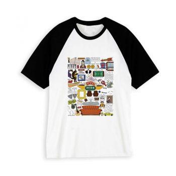 Hipster Camiseta Harajuku Friends Unisex 11