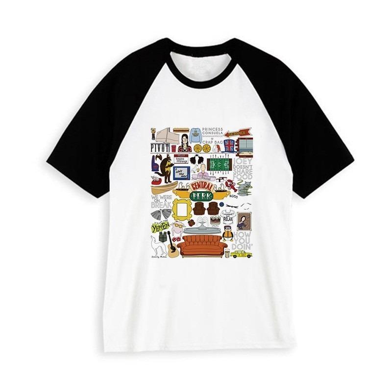 Hipster Camiseta Harajuku Friends Unisex 6