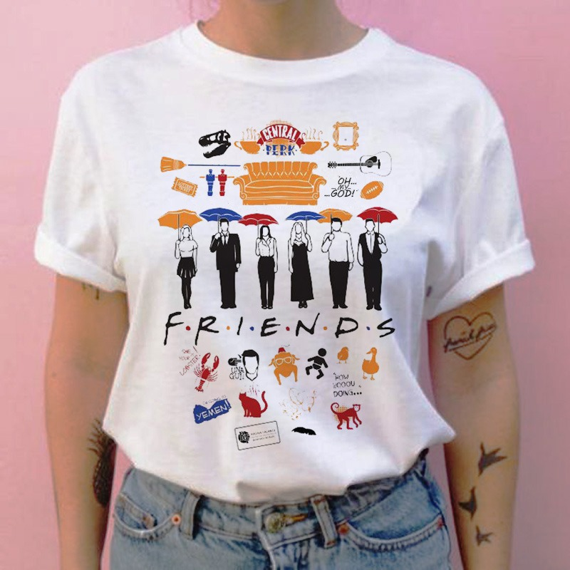 Friends camiseta hip hop 90s para Chica 2