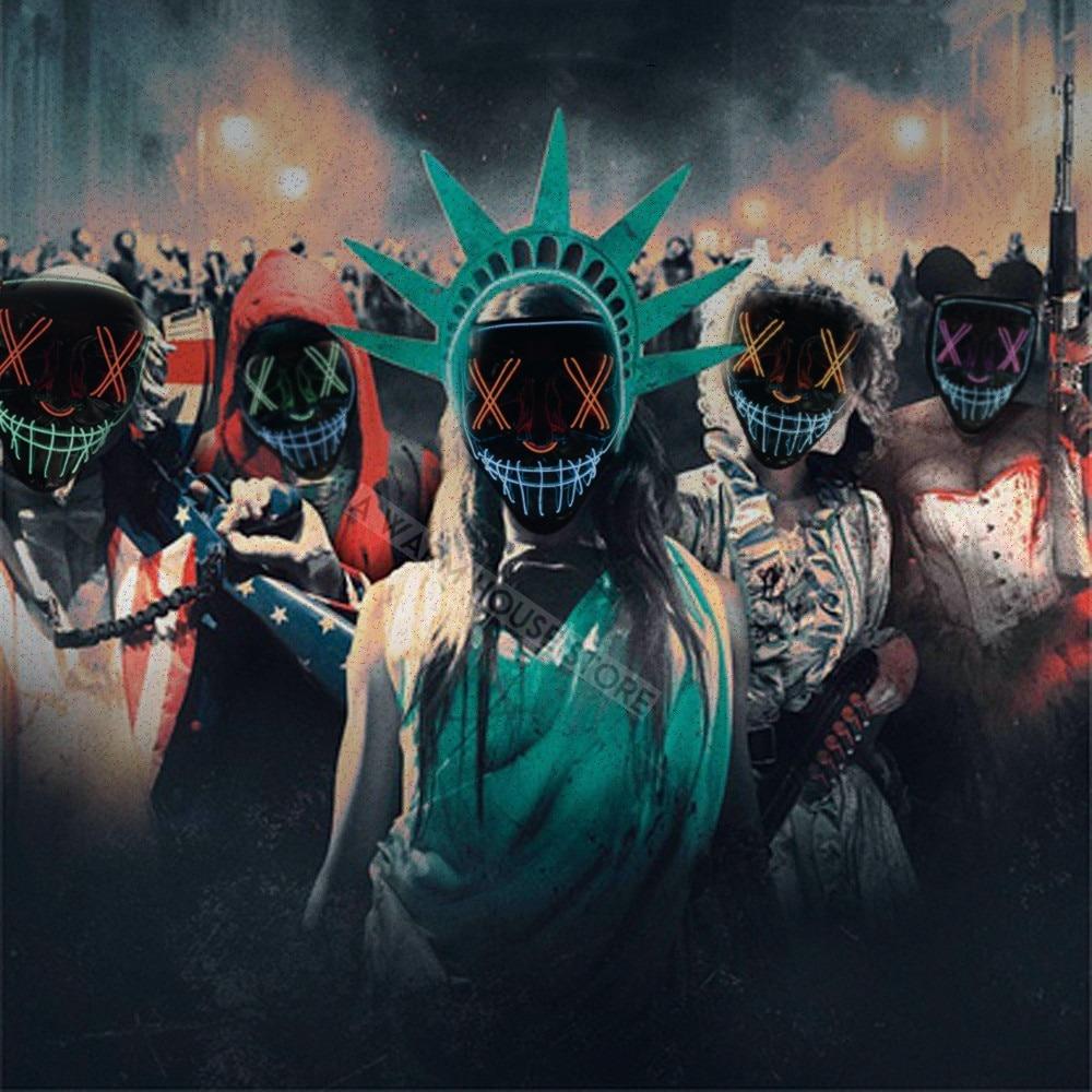 Máscaras Led Cosplay La Purga Siglo 21 2