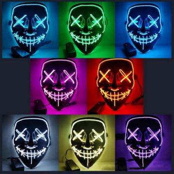 Máscaras Led Cosplay La Purga Siglo 21 9