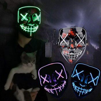 Máscaras Led Cosplay La Purga Siglo 21 8
