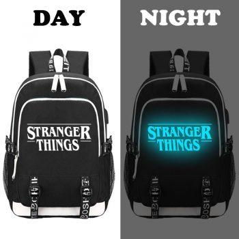 Mochila USB Luminescente STRANGER THINGS 3P 9