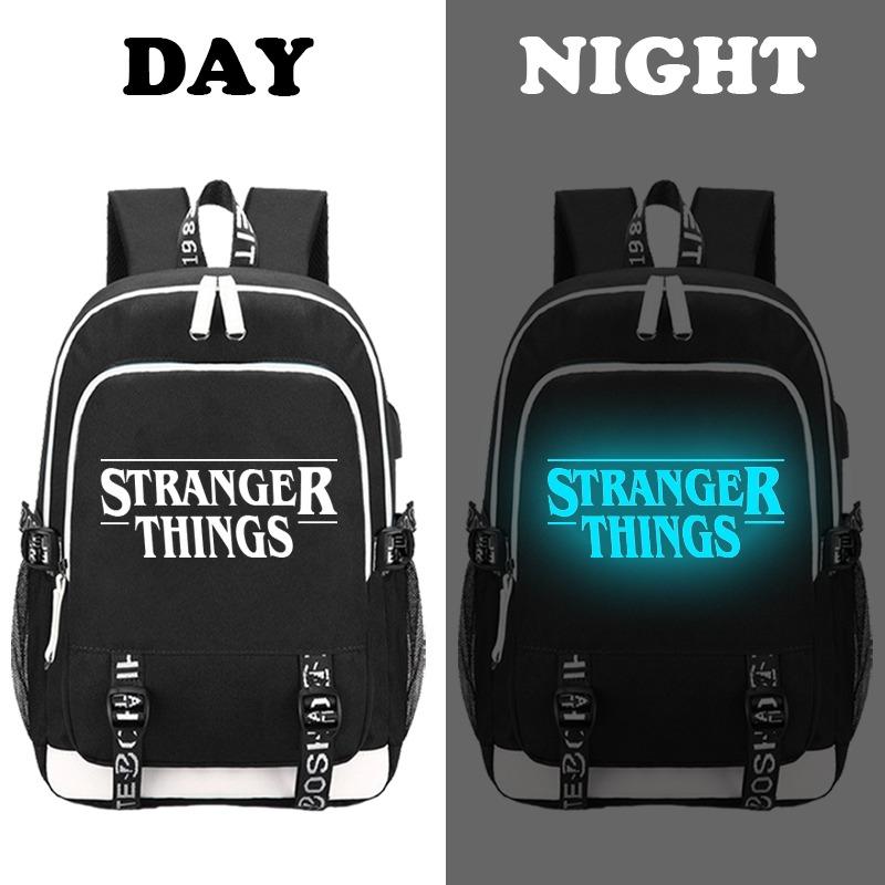 Mochila USB Luminescente STRANGER THINGS 3P 5