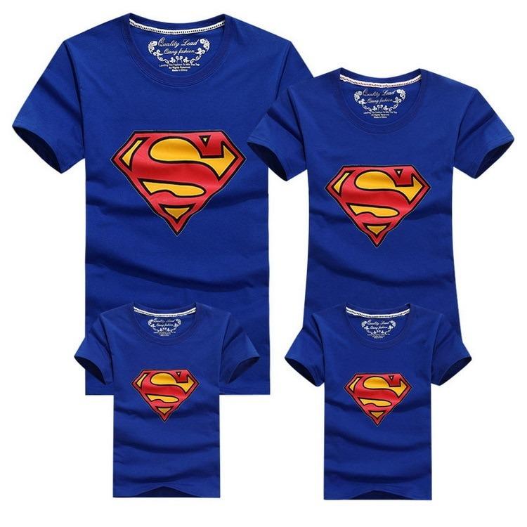 Conjunto Super Family de 4 Camisetas a Juego 4