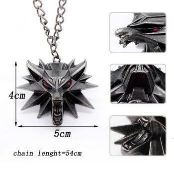 2 Collares Cabeza Lobo Original Geralt El Brujo 10