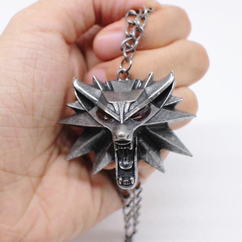 2 Collares Cabeza Lobo Original Geralt El Brujo 1