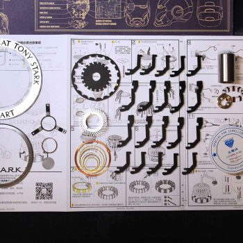 Reactor de Arco Tony Stark con luz LED 2020 11