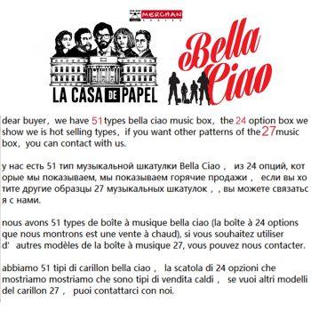 Cajas de Música La Casa De Papel Bella Ciao 2020 1